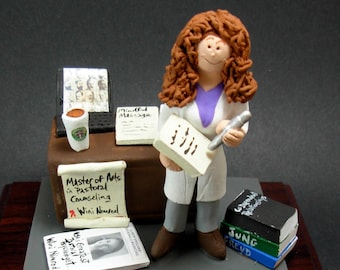 Psychologist's Figurine, Custom Made Gift for a Therapist / Counsellor, Psychiatrist Graduation Gift - Custom Figurine Gift for a Shrink