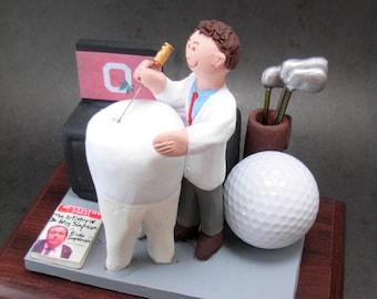 Endodontist from Ohio State - Custom Made Figurine, Dentist Gift- Dental Figurine, Dentist  Graduation Gift, Ohio State Graduation Gift
