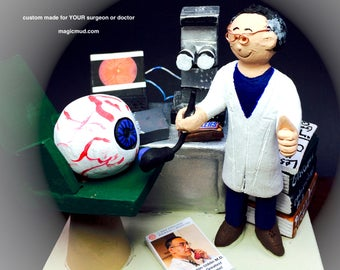 Ophthalmic Surgeon Figurine, Eye Doctor's Gift, Eye Doctor Graduation gift, ophthalmic surgeon gift, optometrist's graduation gift