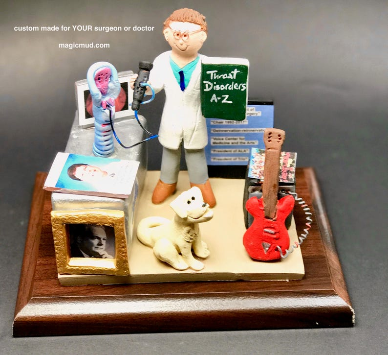 Ent Surgeon Figurine Ear Nose Throat Doctors Gift  Etsy-4038