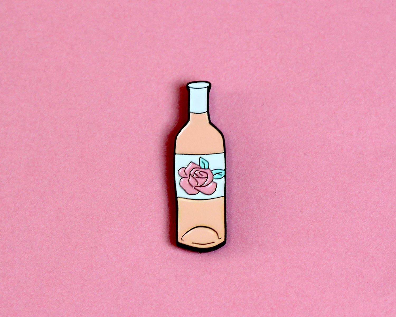 Rosé Wine Enamel Pin Badge Blush / Basic Wine pin | Etsy