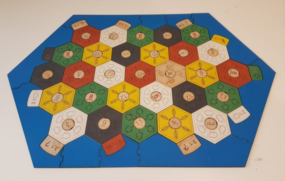 Wooden Settlers Of Catan Board Laser Cut Engraved Hand Etsy