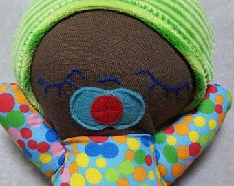 Puppe, Babypuppe, Stoffpuppe, Geschenk, Geburtstag, erste Puppe, Kleinkind, handgefertigt, dreiteiliges Set