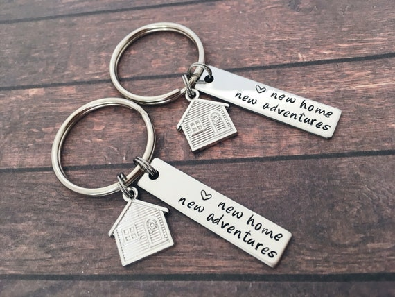 Our First Home Keychains New Home Housewarming Gift Keyrings for Love Normal Couples Love-home