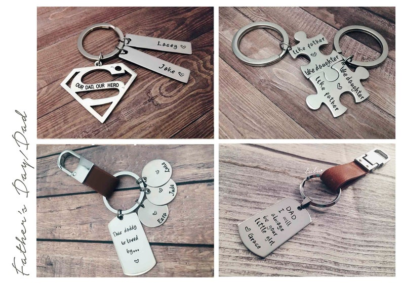 Father/'s day gifts Superman keychain Custom daddy keyring Personalized keychain our dad our hero Superman keyring hero gifts for dad