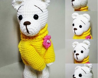 amigurumi crochet pattern  Shy bear