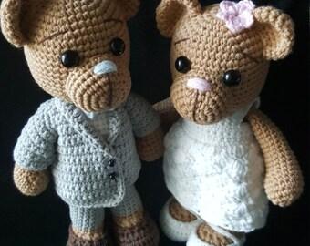 crochet pattern amigurumi Wedding bear