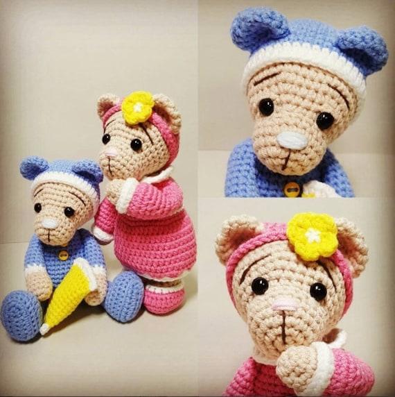 20+ Free Crochet Teddy Bear Patterns ⋆ Crochet Kingdom | 572x570