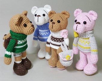 amigurumi ,crochet pattern (turtleneck bear)