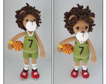 crochet pattern amigurumi Lion(basketball player)