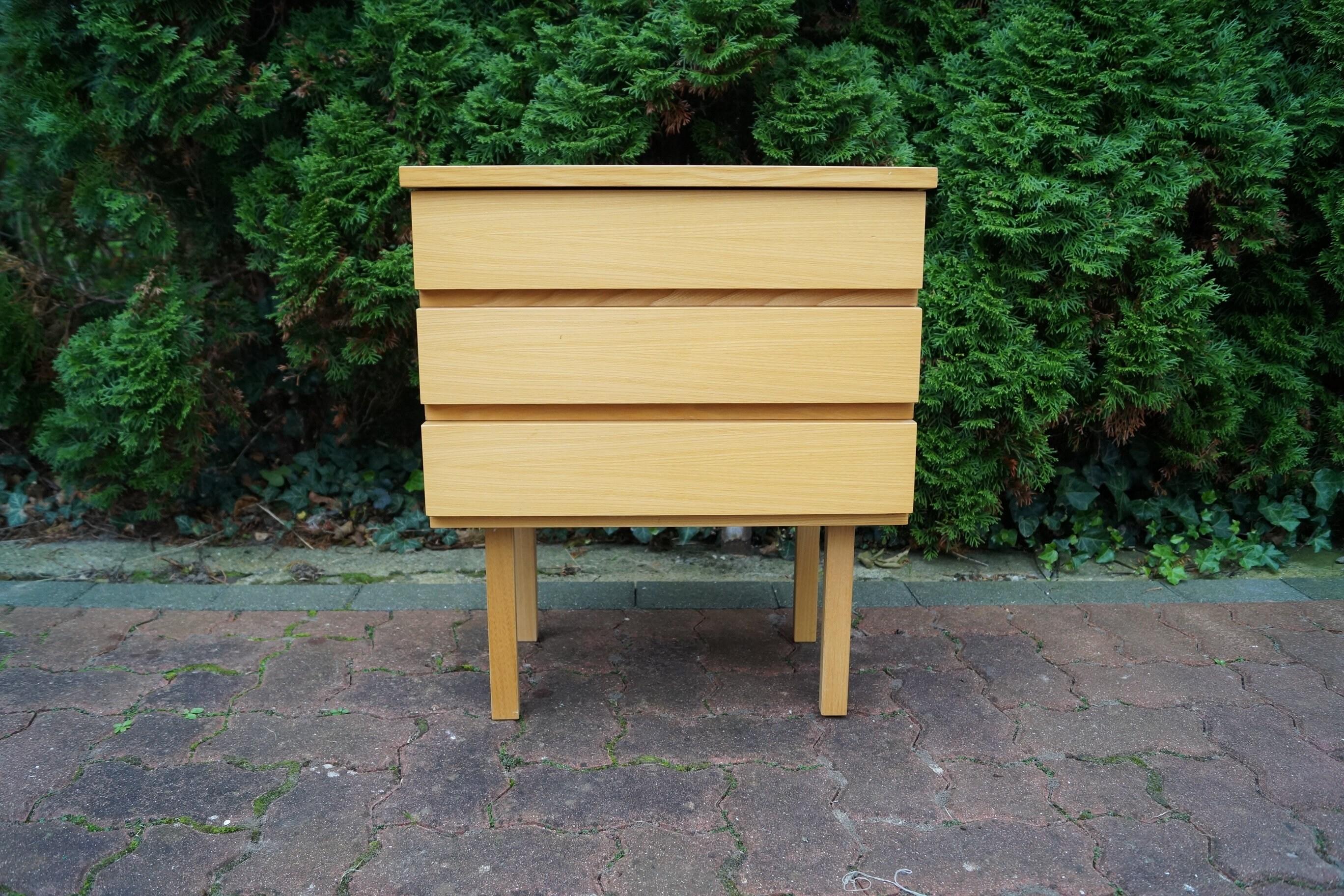 Chest Dresser Old Vintage Beech Etsy