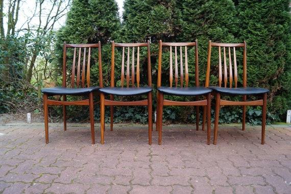 4x Teakholz Teak Esstisch 60er Stühle Tisch Design Etsy
