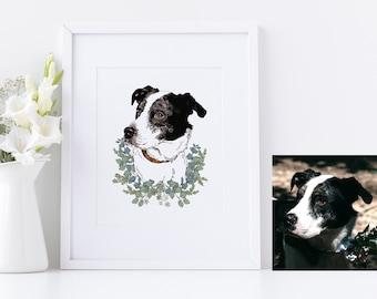 Custom pet portrait, Pet portrait, Dog portrait, Cat portrait, Pet illustration, Dog Illustration, Cat Illustration
