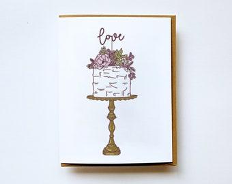 Wedding Congratulations Card, Wedding Wishes, Wedding Greetings, Wedding Greeting Cards, Wedding Wishes Card, Congrats on your Wedding, Cake