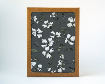 Botanical Dogwood Card Set, Botanical Daisies Card Set, All Occasion Card, Thank You Card, Just Because, Illustrated, Handmade