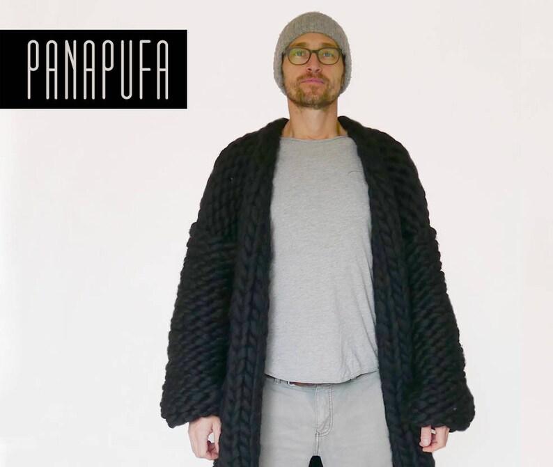 68ce2ef63 Chunky yarn cardiganwool knit coatmens knit cardigan mens