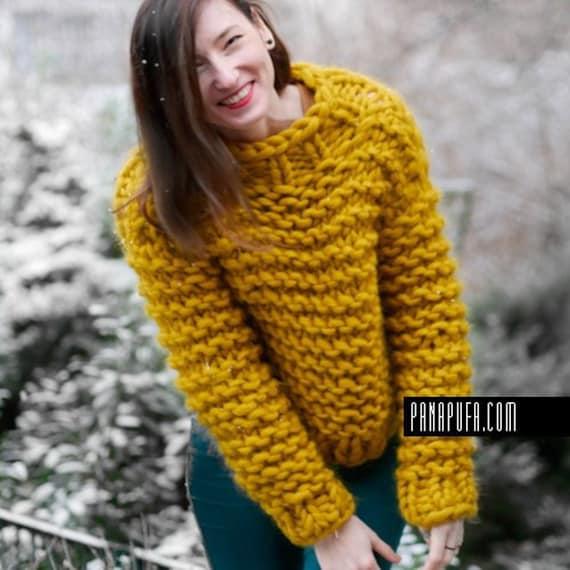CHUNKY KNIT turtleneck sweater, chunky yarn sweater, chunky knit oversize  Chunky Knit sweater, chunky turtleneck jumper
