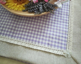 Hotplate and/or base for centerpieces (handmade, lilac with decorations)