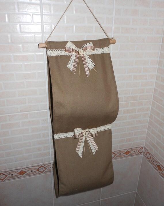 Porta rotolo di carta igienica in tessuto fatto a mano etsy - Dove mettere il porta carta igienica ...