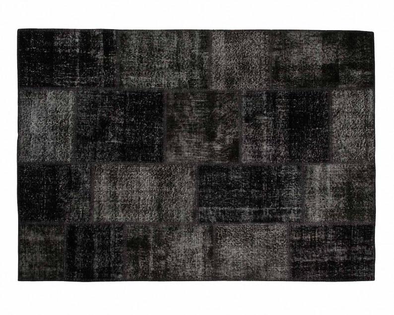 7d1f64369e1fa2 Hiranur  Zwarte Vintage Kleden uit Turkije Patchwork Modern