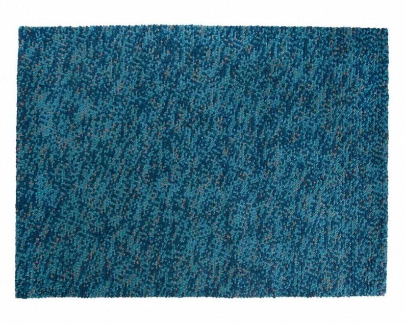 Kryszna Filcowane Wełniane Dywany Indyjskie W Niebieskich Kolorach Bardzo Miękkie Dla Dzieci Darmowa Wysyłka