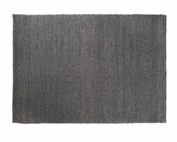 Aarush Woll Loop Teppich Dunkelgrau Farbe Erhaltlich In Etsy