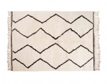 Naima: Moroccan Rugs Beni Ourain Style Berber Handmade Fair Trade All Sizes Wool, Clearance Sale