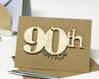 90th Birthday Card Keepsake Personalised For Dad Special
