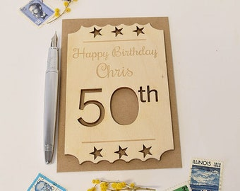 Cards For 50th Birthdays, 50th Card For Mum, 50th Birthday Card For Dad, Contemporary 50th Birthday Cards, Milestone 50th Birthday Cards