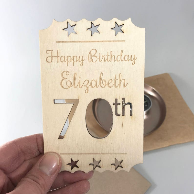 Personalised 70th Birthday Card Keepsake Milestone Celebration
