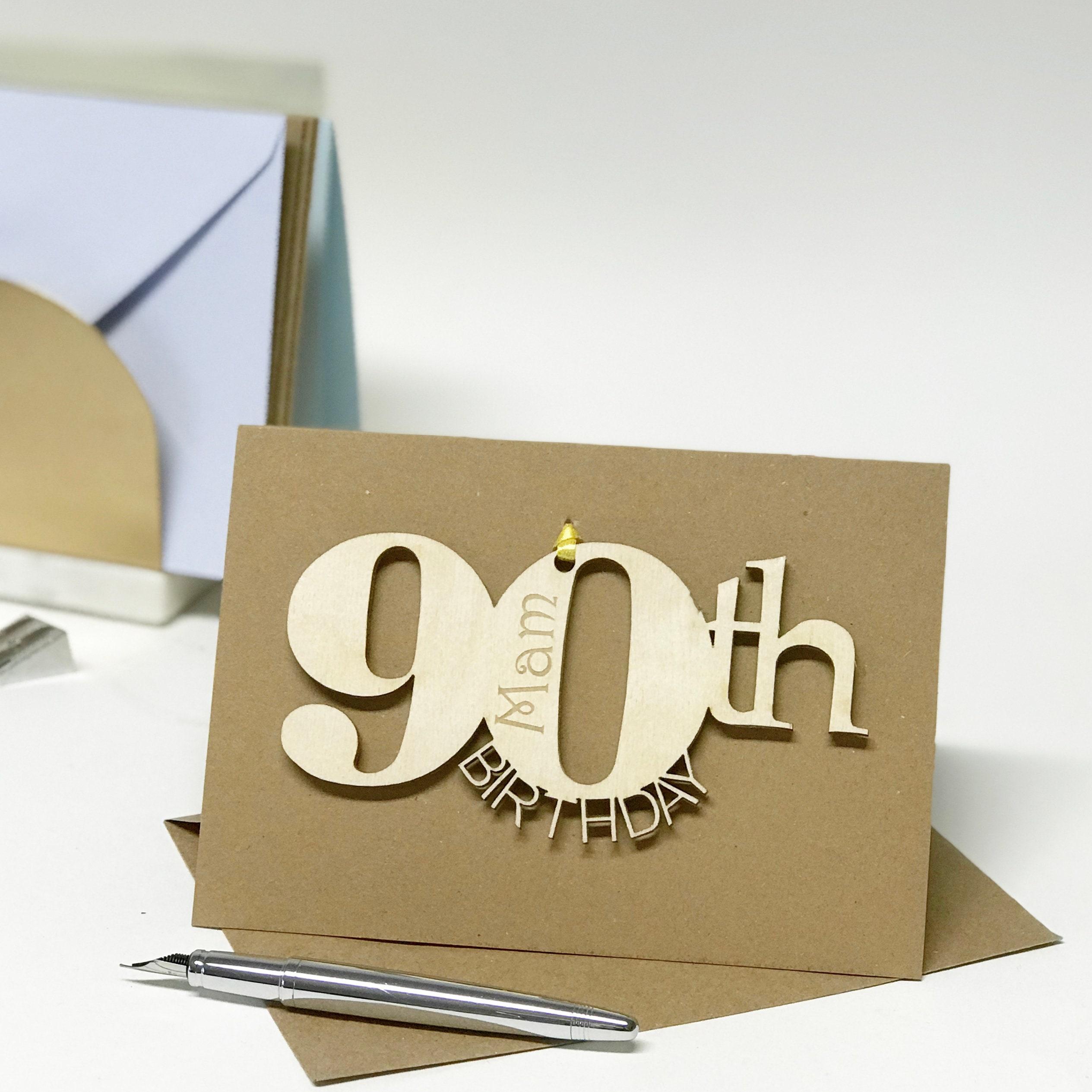 90th Birthday Card Keepsake Personalised