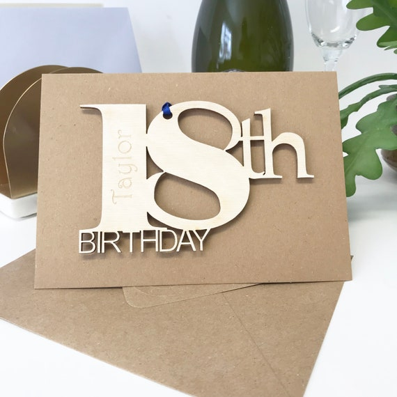 Personalised 18th Birthday Card Cards