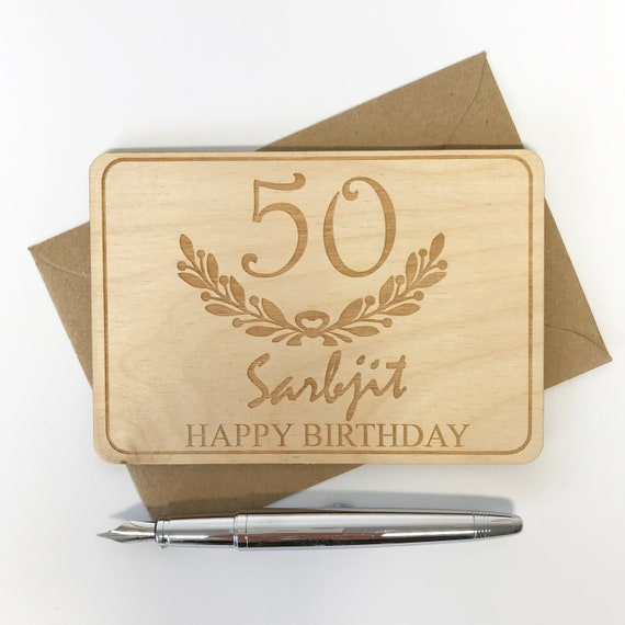 Personalised 50th Birthday Cards Keepsake Cards For 50th Etsy