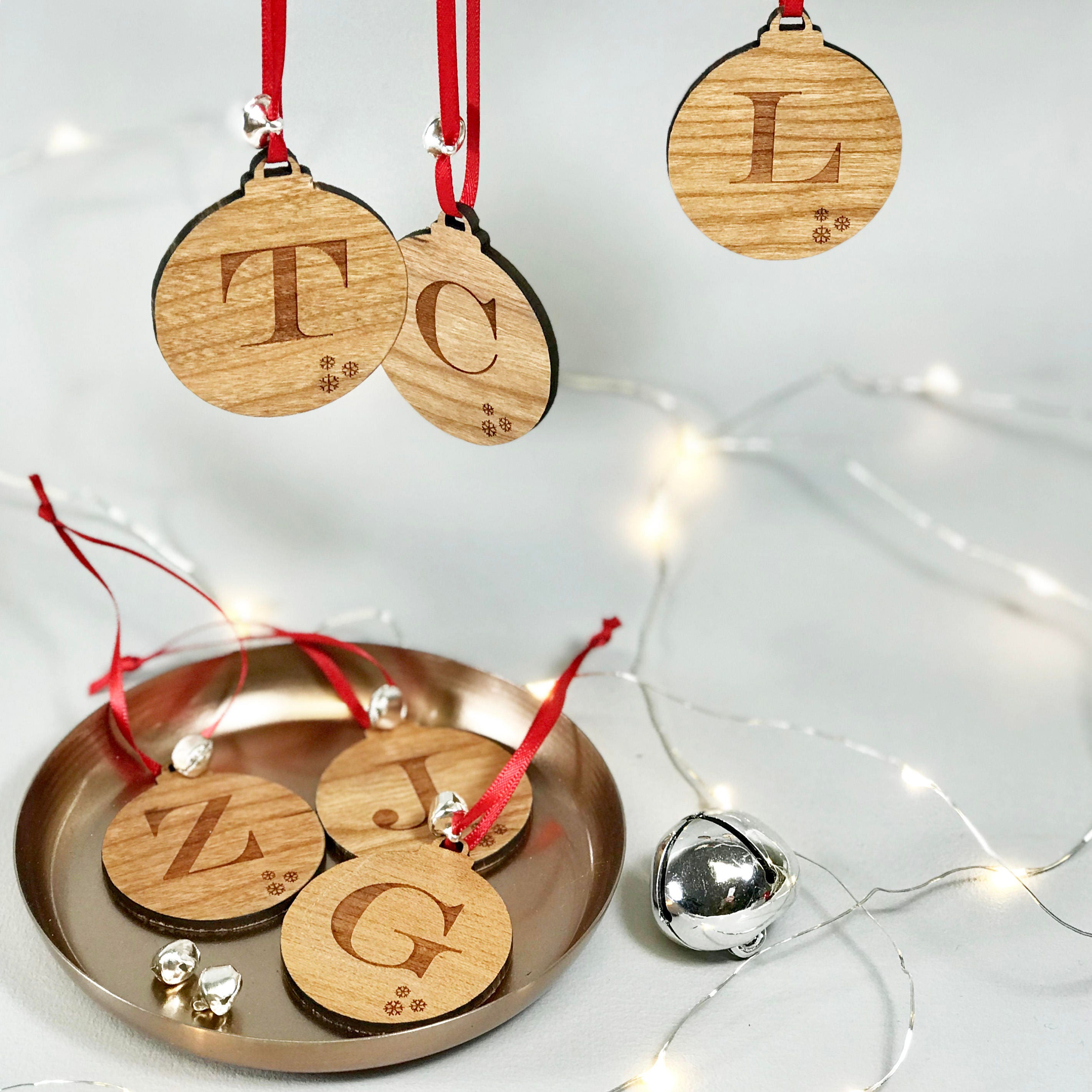 Initial Letter Christmas Decoration Initial Letter Bauble | Etsy