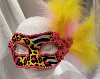 Fun Festive, one of a kind, hand crafted party mask