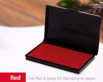 INK PAD STAMP - Red Ink Pad - Stamp Ink Colours - Choice of Colors - Ink for Rubber Stamp