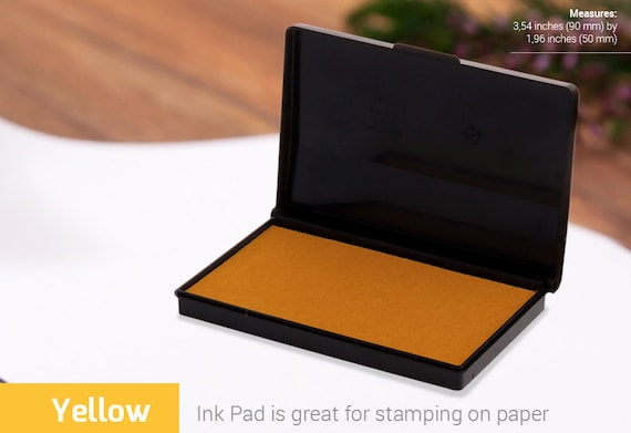 INK PAD STAMP Yellow Ink Pad Stamp Colours Choice Of