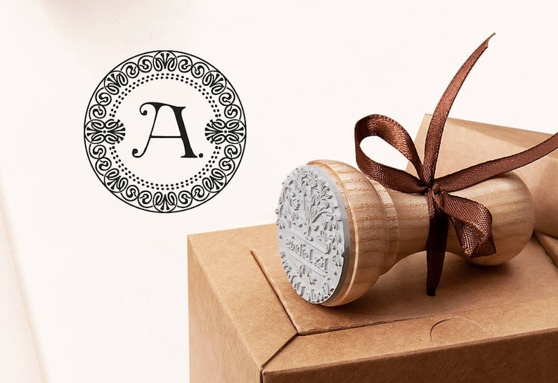 Letter A Stamp Birthday Gift A Business Monogram A A Rubber Stamp Business Card Stamp Initial Gift A A MONOGRAM STAMP