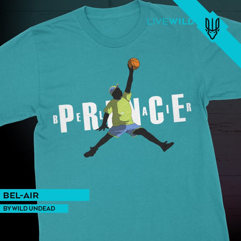 811247ceed1b Fresh Prince Air Jordan Mash-Up Shirts Bel-Air