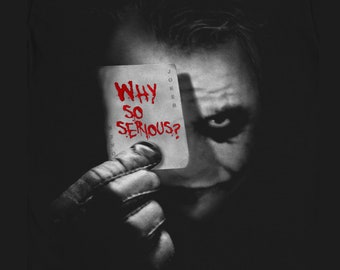 d547a764 The Joker - Why so Serious? T-Shirt Movie Comics Batman DarKnight Holiday  Gift Christmas Birthday Present