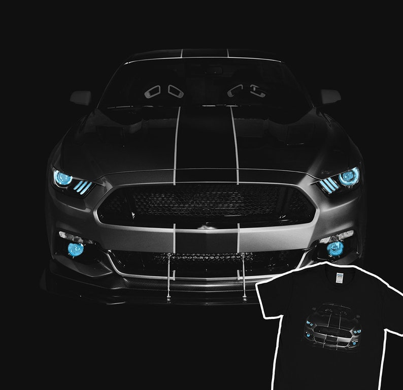 2015 Ford Mustang GT F 35 Lightning Edition Camiseta Hombres Regalo Idea Presente V8 powered Regalo de Vacaciones Cumpleaños