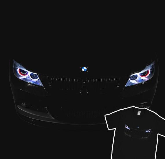 Bmw E90 T Shirt M3 Angel Eyes Oss Headlights Glow Black T Shirt Holiday Gift Christmas Birthday Present