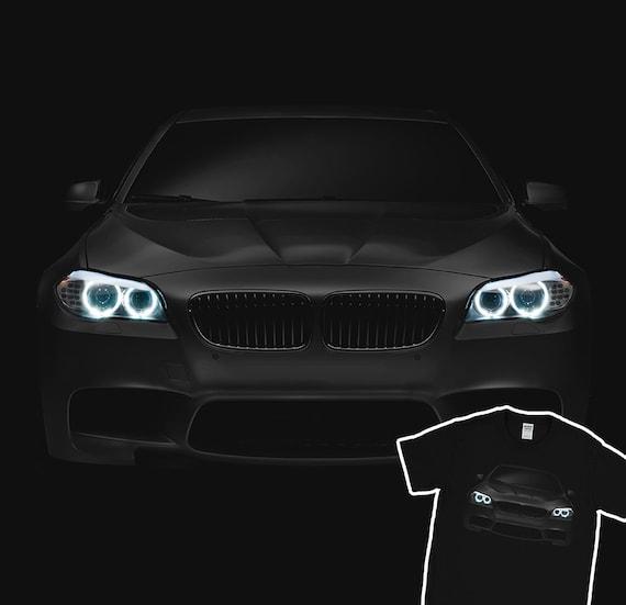 Bmw M5 F11 T Shirt Blue Angel Eyes Headlights Glow Black Etsy