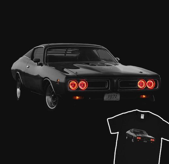 Noël Shirt D'anniversaire Voiture T Charger De 1971 Bee 100Coton Muscle Vacances Phares Dodge Super Cadeau Course 3RAL54jq
