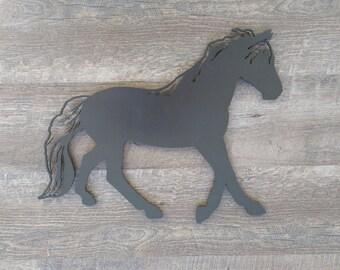 Metal Horse, black horse, metal wall art, equestrian art, horse art, silhouette, western art