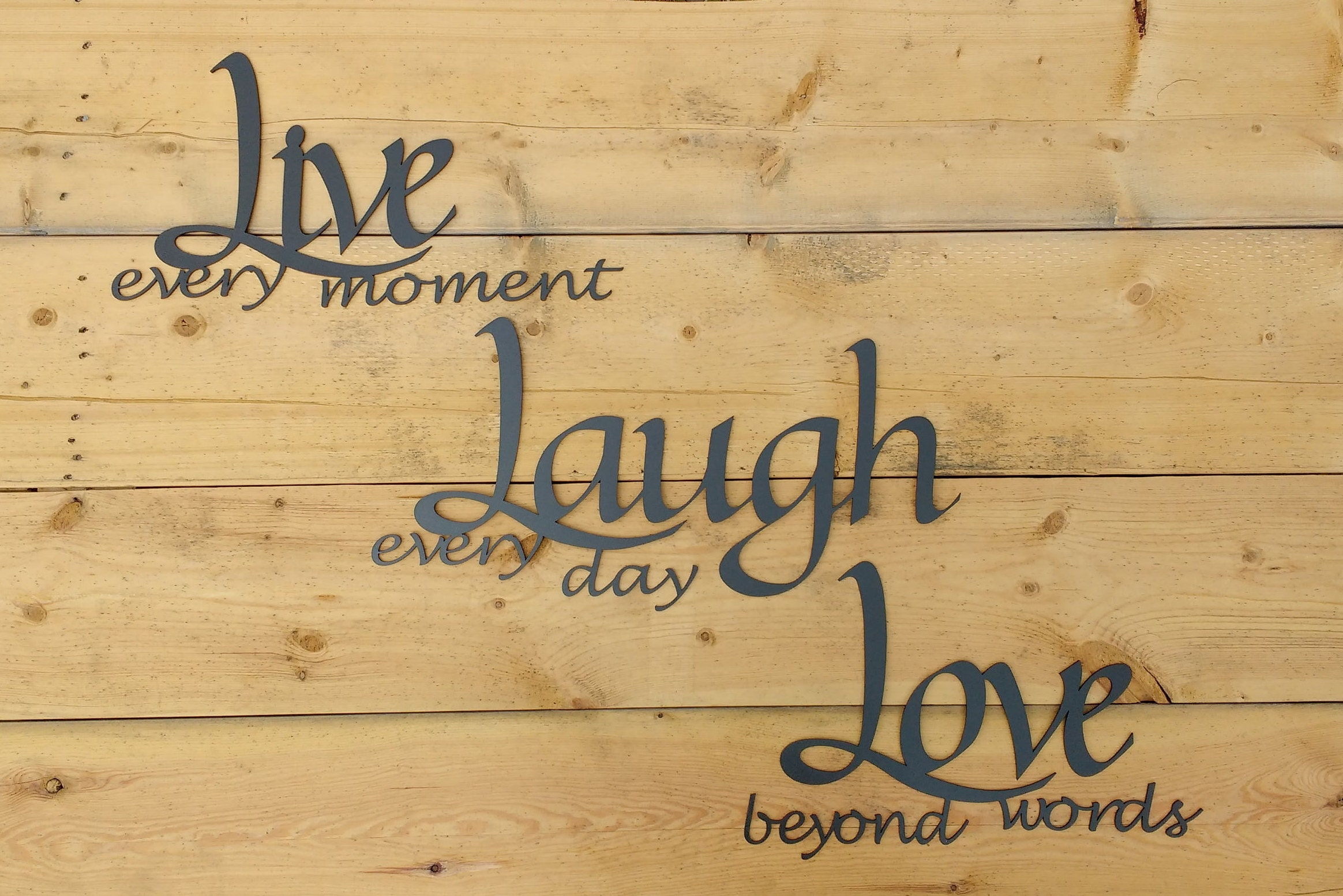 Metal Wall Art Words Live Laugh Love Wall Decor | Etsy