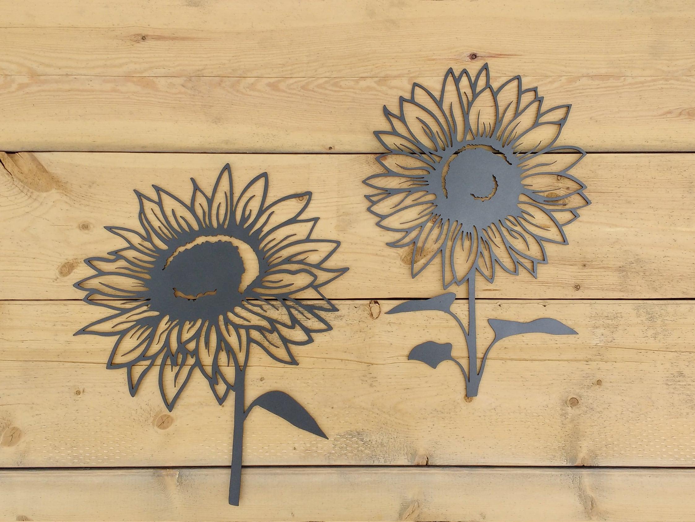 Metal Sunflower Sunflower Flower Wall Art Decoration | Etsy