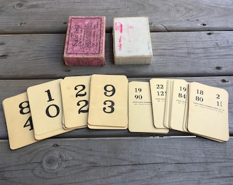 1940s Sight Drill Number Cards Vintage Drill Cards Plymouth Press Chicago