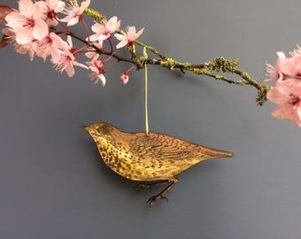 Thrush hanging decoration