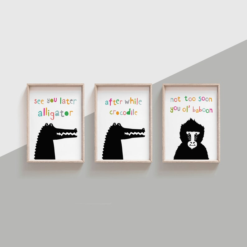 12108974199d83 See You Later Alligator Goodbye Sign for Playroom or Hallway